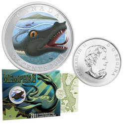 CANADIAN MYTHICAL CREATURES -  MEMPHRE -  2011 CANADIAN COINS 02