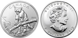 CANADIAN WILDLIFE -  COUGAR - 1 OUNCE FINE SILVER COIN -  2012 CANADIAN COINS 03