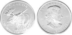 CANADIAN WILDLIFE -  MOOSE - 1 OUNCE FINE SILVER COIN -  2012 CANADIAN COINS 04