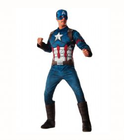 CAPTAIN AMERICA -  CAPTAIN AMERICA COSTUME (ADULT - ONE SIZE) -  INFINITY WAR