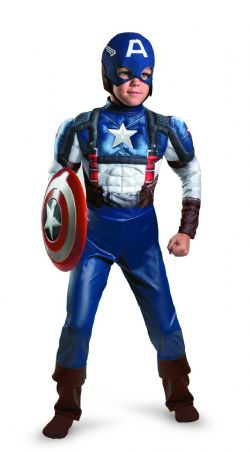CAPTAIN AMERICA -  DELUXE CAPTAIN AMERICA RETRO COSTUME (CHILD) -  AVENGERS 2 : AGE OF ULTRON
