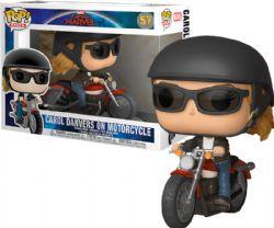 CAPTAIN MARVEL -  POP! VINYL BOBBLE-HEAD OF CAROL DANVERS ON MOTORCYCLE (4 INCH) 57