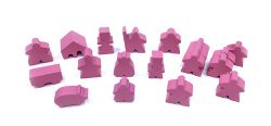 CARCASSONNE MEEPLE 19-PACK -  PINK