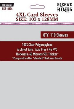 CARD SLEEVES -  4XL (103MM X 128MM) (110) -  SLEEVE KINGS