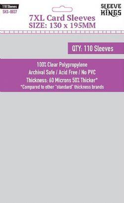 CARD SLEEVES -  7XL (130MM X 195MM) (110) -  SLEEVE KINGS