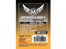 CARD SLEEVES -  CARD GAME SLEEVES (100) (50 MM X 75 MM) -  MAYDAY GAMES