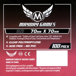 CARD SLEEVES -  CARD GAME SLEEVES (100) (70 MM X 70 MM) -  MAYDAY GAMES