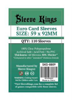 CARD SLEEVES -  EURO (59MM X 92MM) (110) -  SLEEVE KINGS