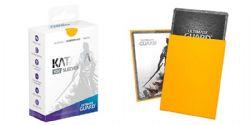 CARD SLEEVES -  KATANA STANDARD SIZE SLEEVE (100) (66 MM X 91 MM) - YELLOW -  ULTIMATE GUARD