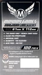 CARD SLEEVES -  MAGNUM PLATINUM CARD SLEEVES (100) (61 MM X 112 MM) -  MAYDAY GAMES