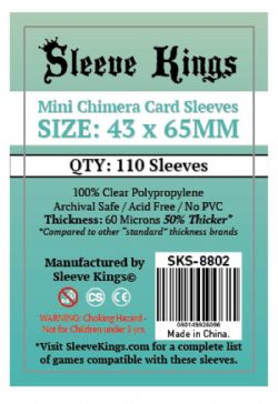 CARD SLEEVES -  MINI CHIMERA (43MM X 65MM) (110) -  SLEEVE KINGS