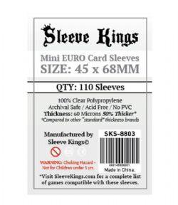 CARD SLEEVES -  MINI EURO (45MM X 68MM) (110) -  SLEEVE KINGS