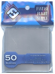 CARD SLEEVES -  POLYPROPYLENE SLEEVES - BLUE (50) (70MM X 70MM) -  FANTASY FLIGHT SUPPLY