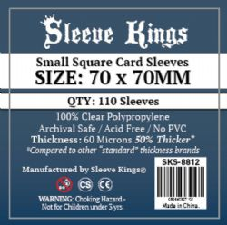 CARD SLEEVES -  SMALL SQUARE (70MM X 70MM) (110) -  SLEEVE KINGS