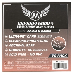 CARD SLEEVES -  SQUARE GAME SLEEVES (50) (80 MM X 80 MM) -  MAYDAY GAMES