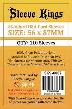 CARD SLEEVES -  STANDARD USA (56MM X 87MM) (110) -  SLEEVE KINGS