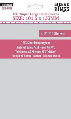 CARD SLEEVES -  XXL SUPER LARGE (101.5MM X 153MM) (110) -  SLEEVE KINGS