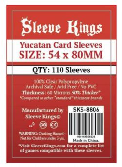 CARD SLEEVES -  YUCATAN (54MM X 80MM) (110) -  SLEEVE KINGS