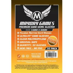 CARDS SLEEVES -  CARD GAME SLEEVES (50) «YUCATAN NARROW» 54MM X 80MM