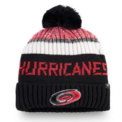 CAROLINA HURRICANES -  BEANIE WITH POMPOM - BLACK