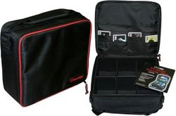 CARRYING CASE -  PORTABLE BLACK DECK CASE WITH CARDBOARD INTERIOR