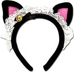 CAT EARS -  BLACK CAT HEADBAND