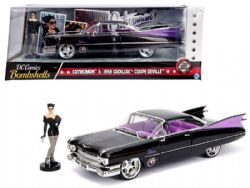 CATWOMAN -  1959 CADILLAC COUPE DEVILLE WITH CATWOMAN 1/24