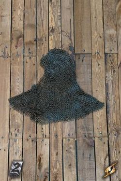 CHAIN MAIL -  HOOD - ALARIC - LARGE (NATURAL FINISH)