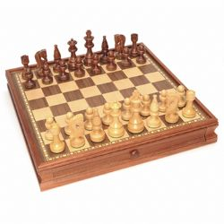 CHESS -  RUSSIAN CHESS & CHECKERS SET (15