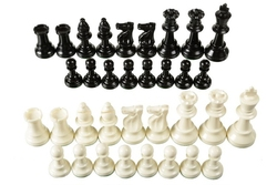 CHESS -  TRIPLE WEIGHTED PLASTIC CHESS PIECES (OFFICIAL)