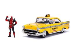 CHEVY -  1957 BEL AIR TAXI 1/24 - YELLOW -  DEADPOOL