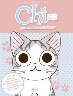 CHI'S SWEET HOME -  Les indispensables - Contient : 1 livre de coloriage, 1 livre de jeux, 1 livre de souvenirs de vacances, 1 planche de stickers, 1 livre de poche
