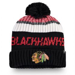 CHICAGO BLACKHAWKS -  BEANIE WITH POMPOM - BLACK