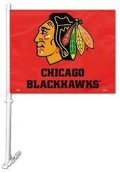CHICAGO BLACKHAWKS -  CAR FLAG