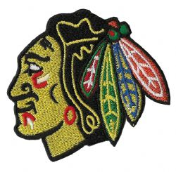 CHICAGO BLACKHAWKS -  EMBROIDERED LOGO PATCH