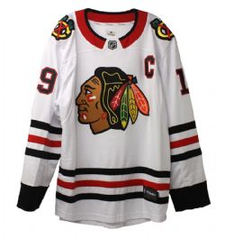 CHICAGO BLACKHAWKS -  JONATHAN TOEWS #19 - REPLICA WHITE JERSEY (LARGE)