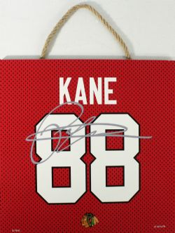 CHICAGO BLACKHAWKS -  PATRICK KANE #88 AUTOGRPAHED WOODEN PLAQUE (10