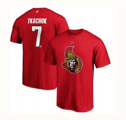 CHICAGO BLACKHAWKS -  RED MATTHEW TKACHUK #7 T-SHIRT