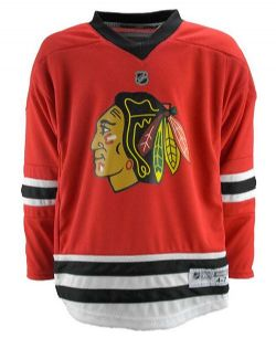 CHICAGO BLACKHAWKS -  RED REPLICA JERSEY (YOUTH)
