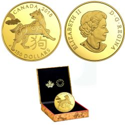 CHINESE LUNAR CALENDAR -  YEAR OF THE DOG 08 -  2018 CANADIAN COINS