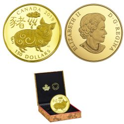 CHINESE LUNAR CALENDAR -  YEAR OF THE PIG 10 -  2019 CANADIAN COINS