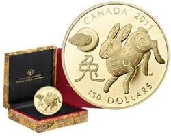CHINESE LUNAR CALENDAR -  YEAR OF THE RABBIT -  2011 CANADIAN COINS 02