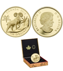 CHINESE LUNAR CALENDAR -  YEAR OF THE SHEEP -  2015 CANADIAN COINS 06