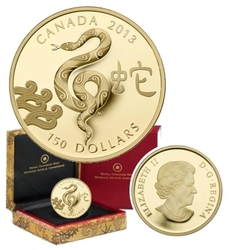 CHINESE LUNAR CALENDAR -  YEAR OF THE SNAKE -  2013 CANADIAN COINS 04