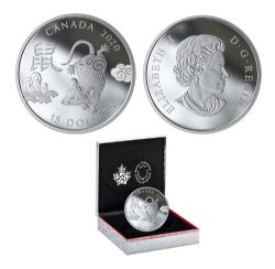 CHINESE ZODIAC SIGNS -  YEAR OF THE RAT -  2020 CANADIAN COINS 11