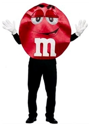 CHOCOLATE -  RED M&M COSTUME (ADULT - ONE-SIZE)