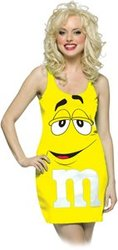 CHOCOLATE -  YELLOW M&M DRESS (ADULT - ONE-SIZE 4-10)