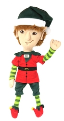 CHRISTMAS -  ARTICULATED ELF PLUSH - FOODIE (14