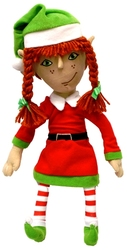 CHRISTMAS -  ARTICULATED ELF PLUSH - SCRIBBLER (14