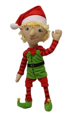 CHRISTMAS -  ARTICULATED ELF PLUSH - STASHER (14
